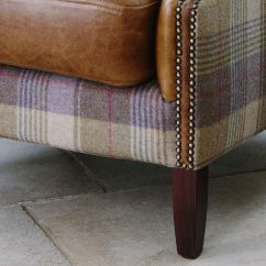 Wing Chairs For Living Room Ashley Showood Accent Chair Julius Leather & Wool Armchair From Curiosity Interiors With Tartan, Tweed Fabric ...