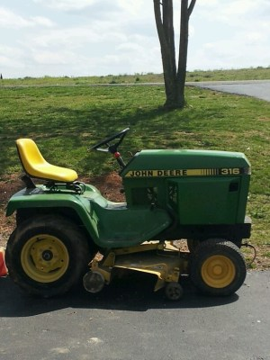 My John Deere 316 | Lawn and garden tractor | Pinterest