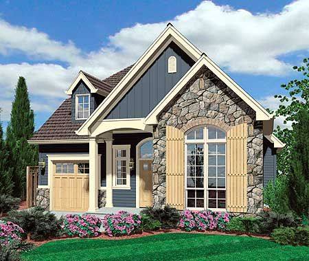 Plan 69128am European Cottage Plan With High Ceilings A