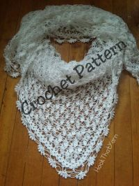 Crochet Pattern Triangular Noriega Wedding Shawl lace ...