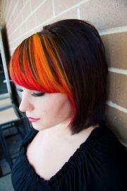 red yellow orange fire hair