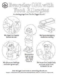 23 best Food Allergy Colouring Pages images on Pinterest