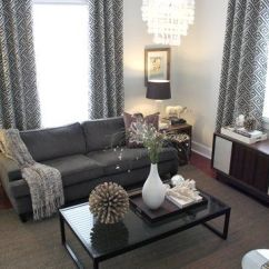 Grey Linen Tufted Sofa Divani E Italia Or Gray. Gray Curtains, White Walls, One Accent Wall ...