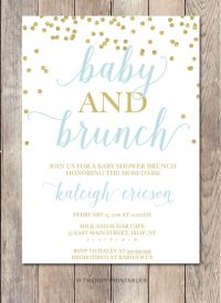 Baby Shower Invitation, Baby Shower Brunch, Baby Shower