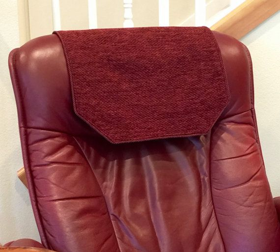 microfiber sofa and loveseat recliner 3 seater slipcovers chair headrest cover burgundy chenille by ...