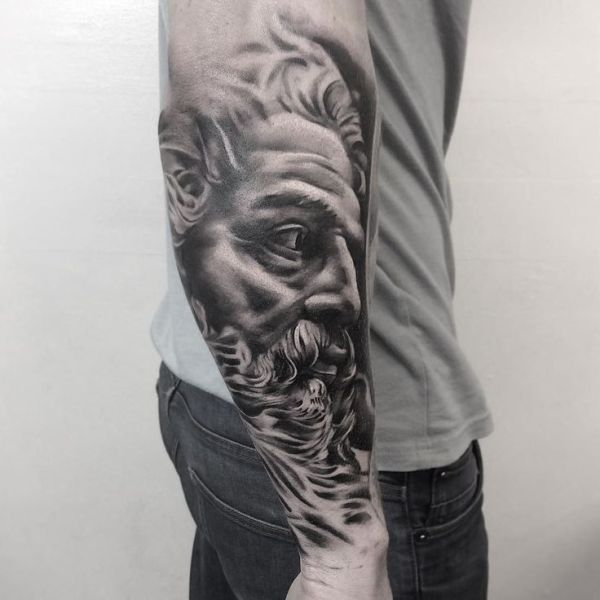 20 Zues Half Sleeve Tattoos For Men On Forearm Ideas And Designs