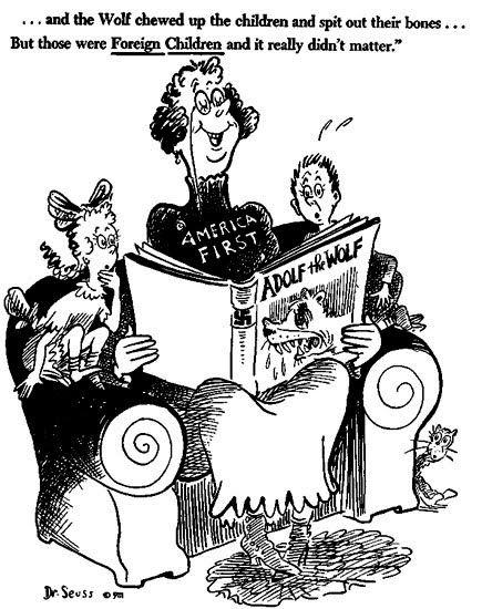 Dr Seuss Political Cartoon On Appeasement