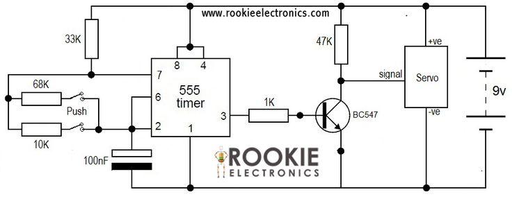 555 rc servo tester circuit