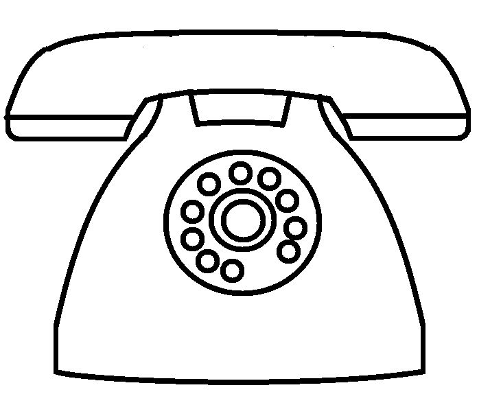 draw telephone Coloring Pages for kids boys and girls