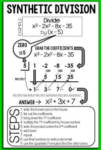Math 11 Long And Synthetic Division Worksheet Answers ...