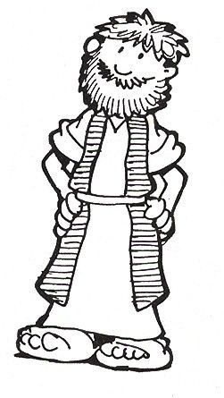 Naaman The Leper Coloring Pages Sketch Coloring Page