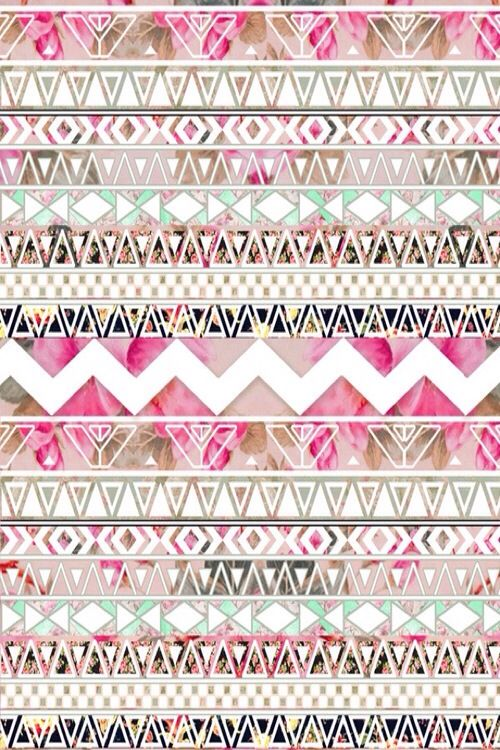 IPhone 5 Wallpaper Floral Aztec Pattern I P H O N E 5