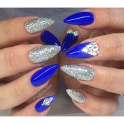 blue and silver margaritasnailz