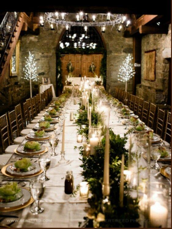 Castle Mcculloch Wedding Table Castle Reception