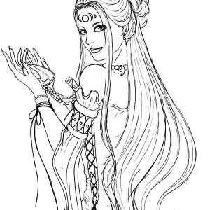 The Goddess Of Love Aphrodite Coloring Page Kids Play