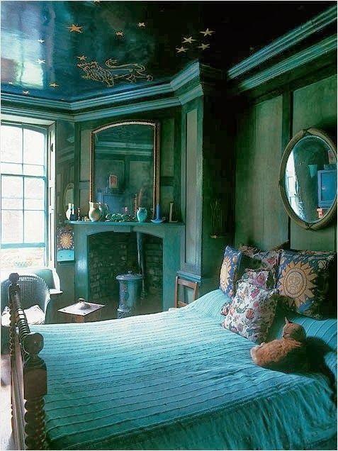 Dark Teal Bedroom