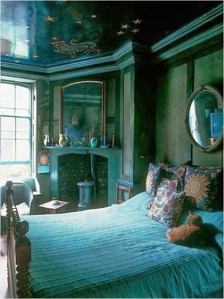 turquoise bohemian bedroom ideas Bohemian Vintage: Bohemian Wednesday - Moody Bohemian Spaces - 02.12.2014 | Boho/Gypsy Style