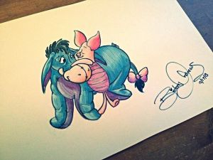 drawing marker easy drawings disney quick sister draw sketch eeyore markers piglet artists artwork