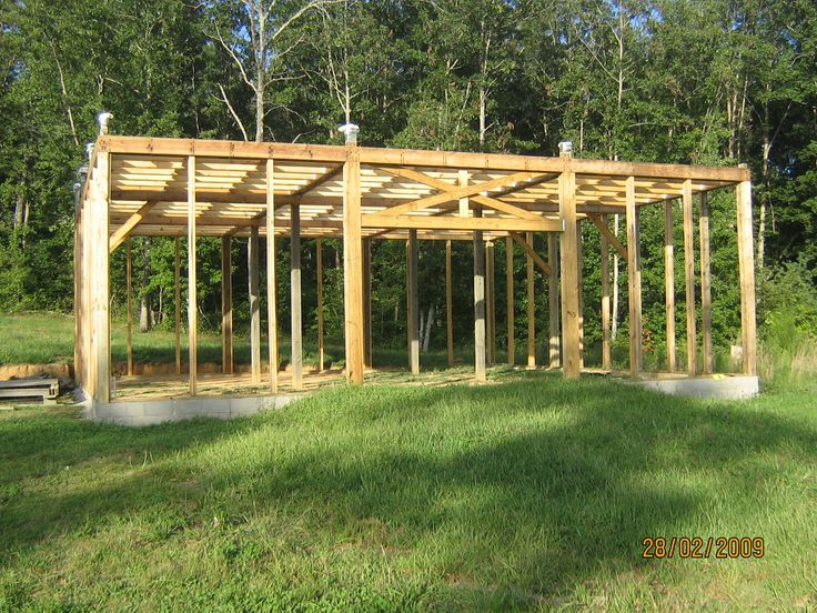 Build A Modified Post And Beam Frame How To Build Post