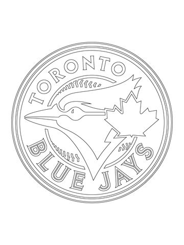 Toronto Blue Jays Logo coloring page from MLB category