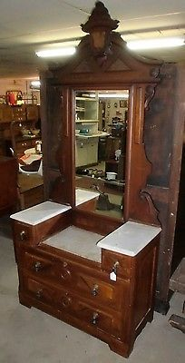 Dresser with mirror Marble top and Dressers on Pinterest