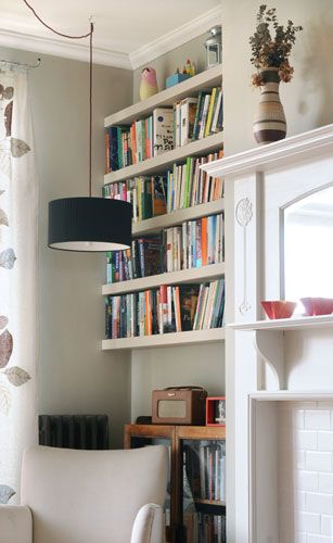1000 images about Alcove Shelves on Pinterest  Fireplaces Built ins and Living rooms