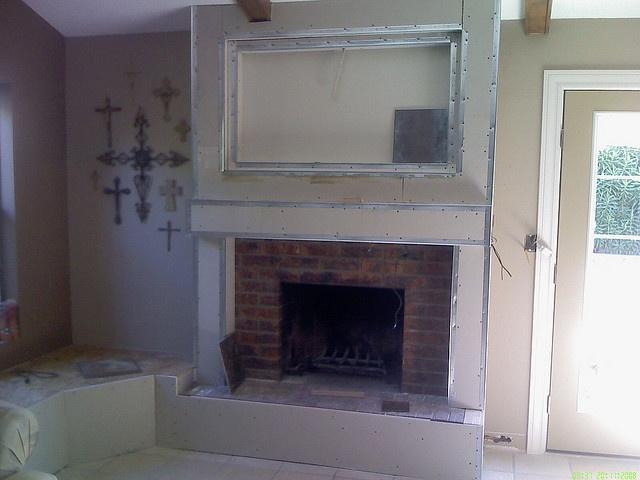 40 best images about Update Sarahs brick fireplace on Pinterest  Fireplace mantels Mantels