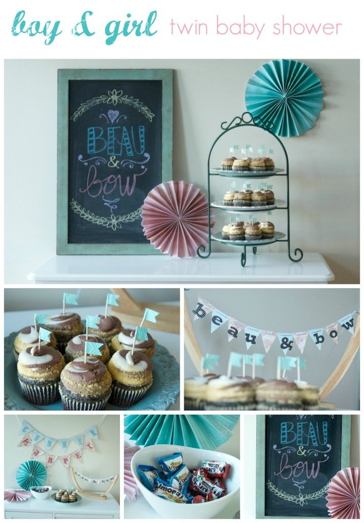 17 Best images about Twins Baby Shower on Pinterest  Baby