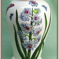 Kitchen Canisters Pottery 1950s Formica Table And Chairs Vintage Portmeirion Botanic Garden Vase Blue Flowers ...