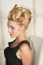vintage updo hairstyles wedding