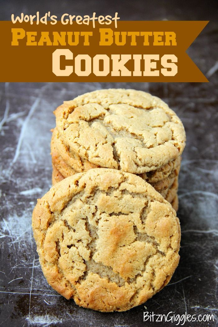 World's Greatest Peanut Butter Cookies – Melt-in-your-mouth delicious peanut butter cookies. Husband requests these over and over,