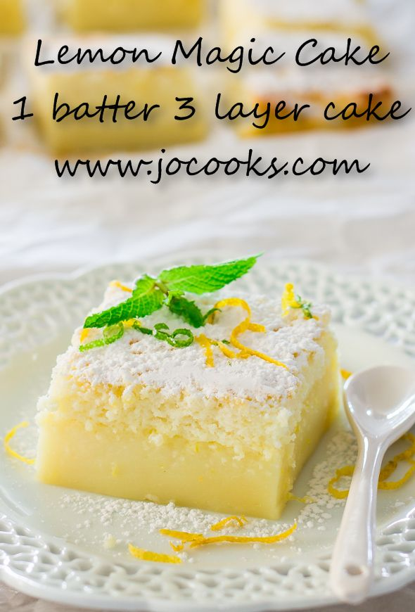 Lemon Magic Cake is made wi