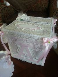 Shabby Chic Money Card Box / Baby Shower Card Box / Shabby ...