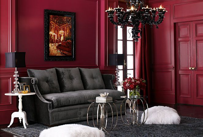 modern and victorian living room