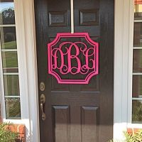 17 Best ideas about Front Door Initial on Pinterest