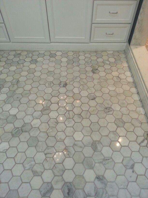 3 Hexagon Carrara Marble Tile Google Search Bathrooms Pinterest Carrara Marble Marble