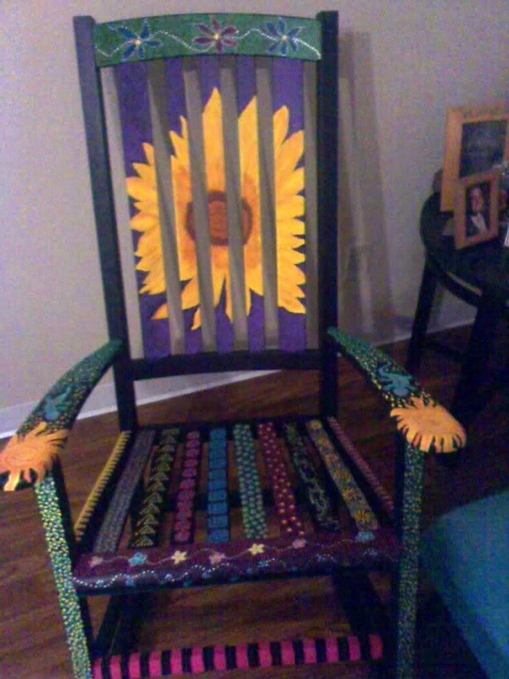 25 best ideas about Painted rocking chairs on Pinterest