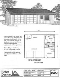 Garage With Apartment Plan No. 1008-1 36' x 28' by Behm ...
