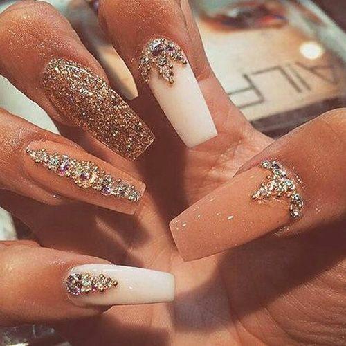 25+ best ideas about Diamond nails on Pinterest