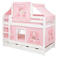 Hot Shot Girl Twin over Twin Deluxe Tent Bunk Bed - Twin ...