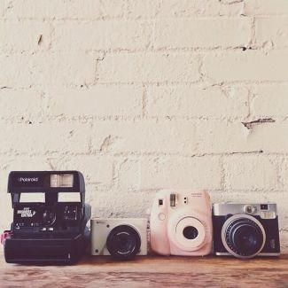 Cameras! I want that Fuji Polaroid (the pastel one) SOOOOOO BAAAADDDD!!! please I WANT: