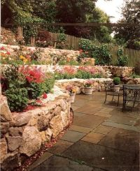 terraced garden beds. could we do this on the hill in back ...