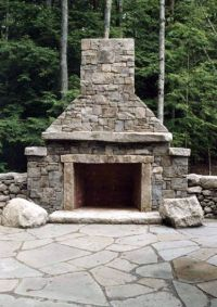 25+ best ideas about Outdoor stone fireplaces on Pinterest ...