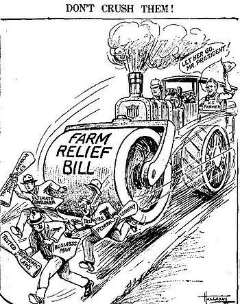 This was a political cartoon that displayed how the AAA