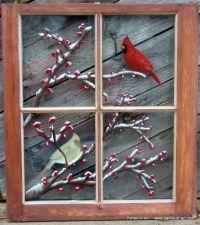Panes of Art, Hand Painted Window Pane Art, Window Art ...