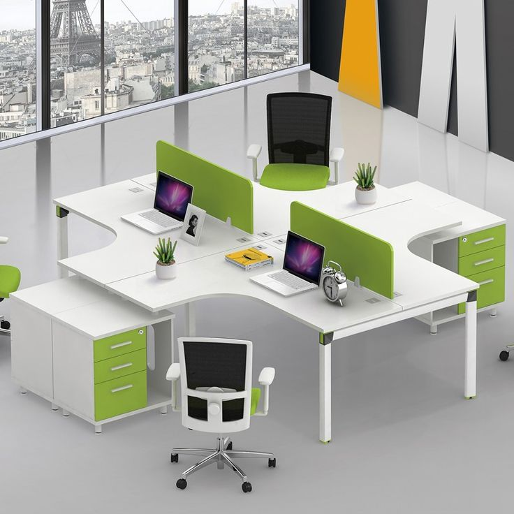 New Design Modular Office Furniture 4 Person Office Desk