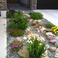 Dry riverbed rock garden. Zone 3 (image only)