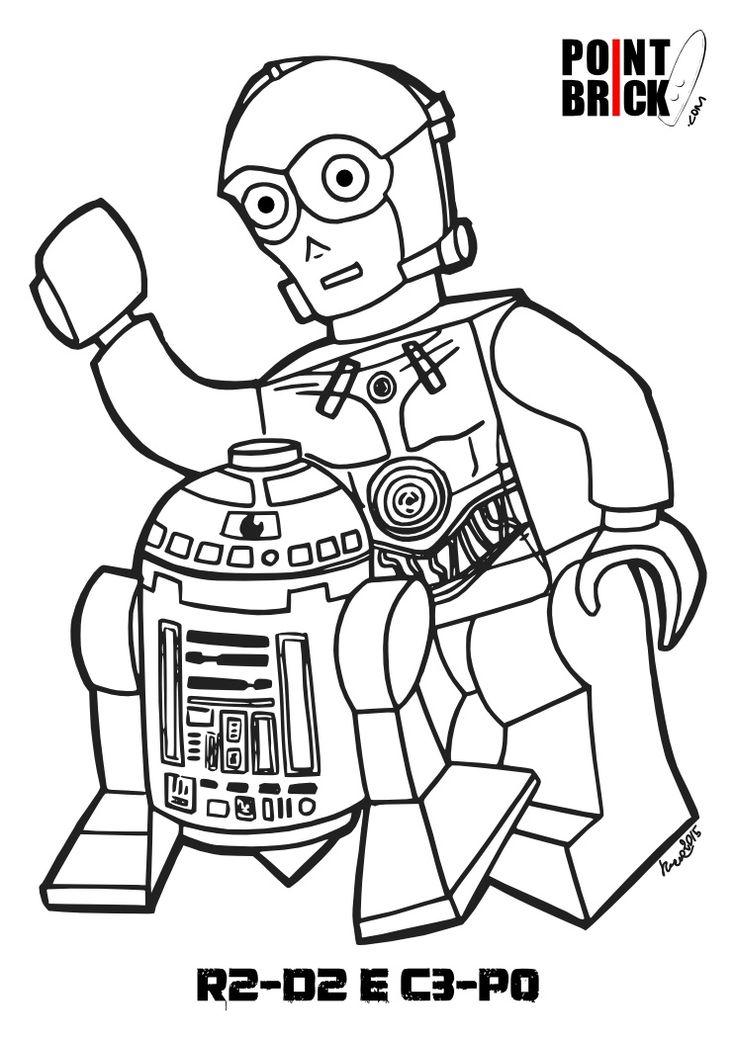 Per lo Star Wars Day due disegni da colorare LEGO ispirati
