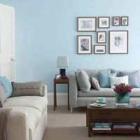 light+blue+walls+in+the+livingroom | Freshen up Living ...