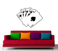 Unique Bicycle Cards Decal, Game Room or Poker Room Decal ...